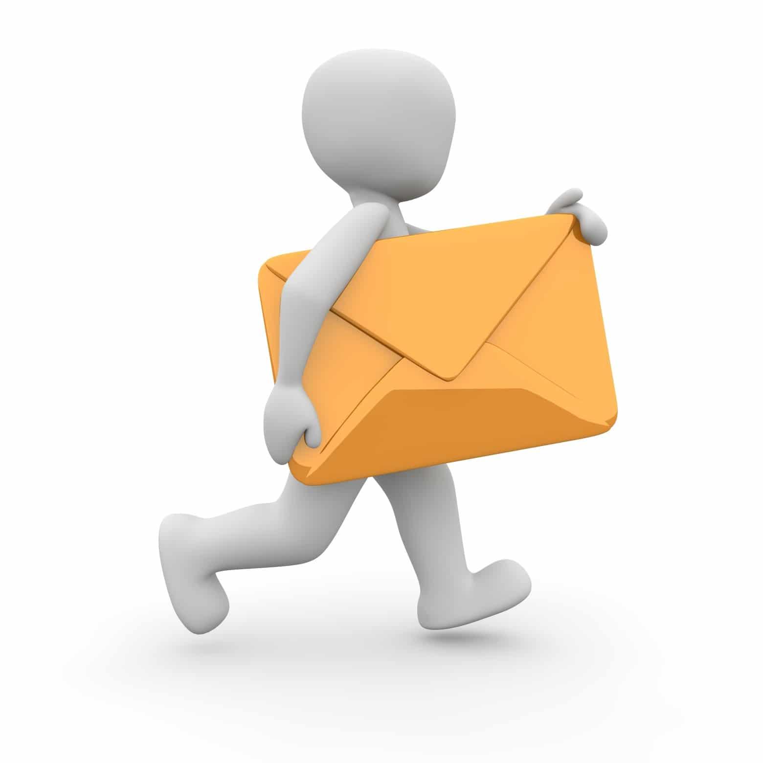 bonhomme lettre courrier mail facteur